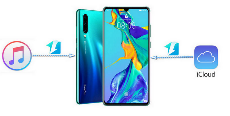 iTunes music to Huawei P30