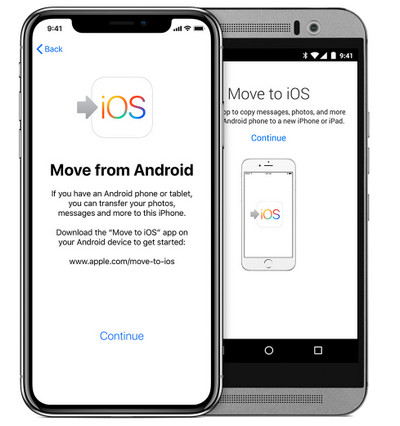 Move to iOS setup on an doroid phone