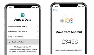 sync android data to iOS 13 devices