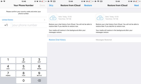 recover deleted whatsapp to iphone 12 from icloud backup