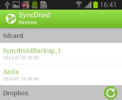 Restore Android Phone from Backup