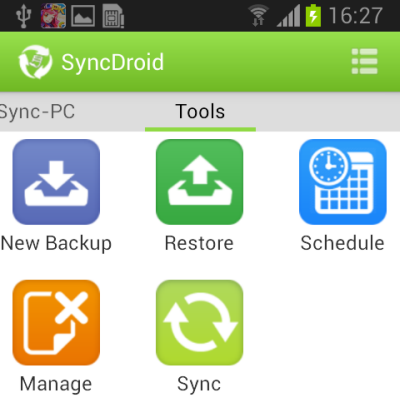 SyncDroid for Android Tools